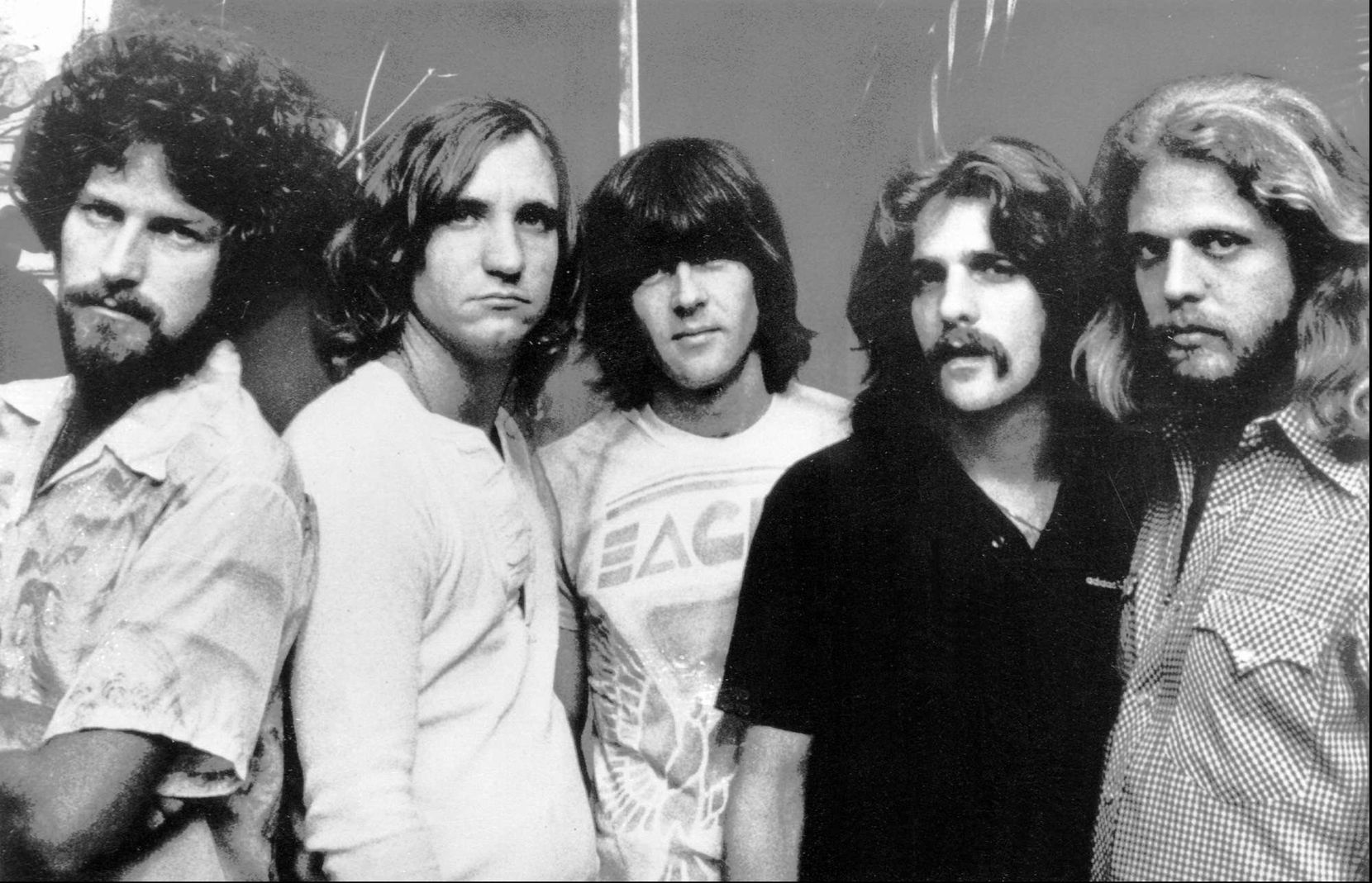 Henley (far left) and the Eagles in 1977