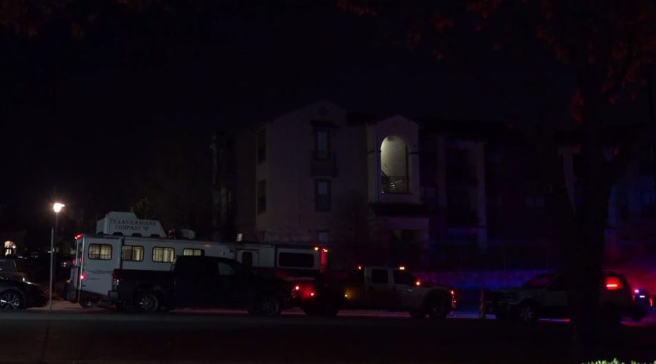 An image from the scene overnight from footage captured by Metro Video Dallas/Fort Worth.