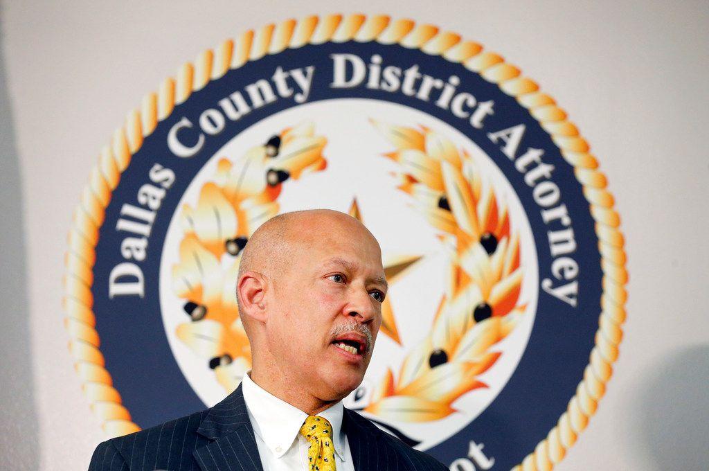 Dallas County District Attorney John Creuzot
