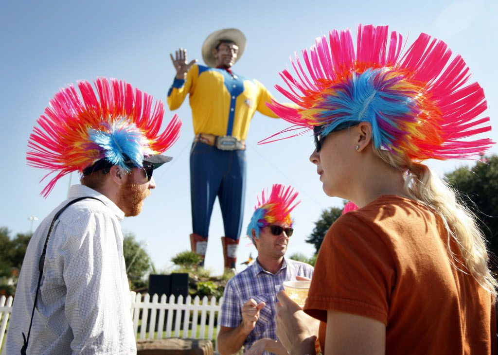 Sept. 30, 2010: Employees of The Dow Group, clad in mowhawk wigs, took off the day to enjoy the weather and fun at the State Fair of Texas in Dallas.