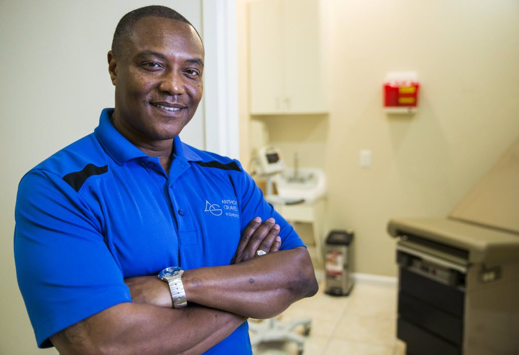 Anthony Graves poses for a portrait inside the Graves Community Health Clinic in Houston. Graves was convicted of a murder he didn't commit and spent nearly two decades in prison before he was cleared of all charges.