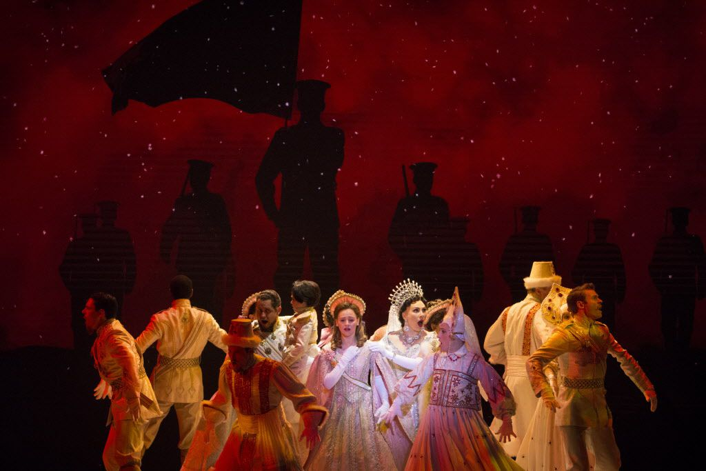 """The ensemble performs """"The Last Dance of the Romanovs"""" during a performance of Anastasia at the Music Hall at Fair Park in Dallas on Tuesday, February 19, 2019. The musical runs until March 3. (Daniel Carde/The Dallas Morning News)"""