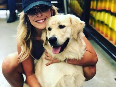 Makenzie Koch was reunited with her golden retriever 24 hours after a thief stole her car with the dog inside. Grand Prairie police found the car unintended with her dog, Riggins, inside.