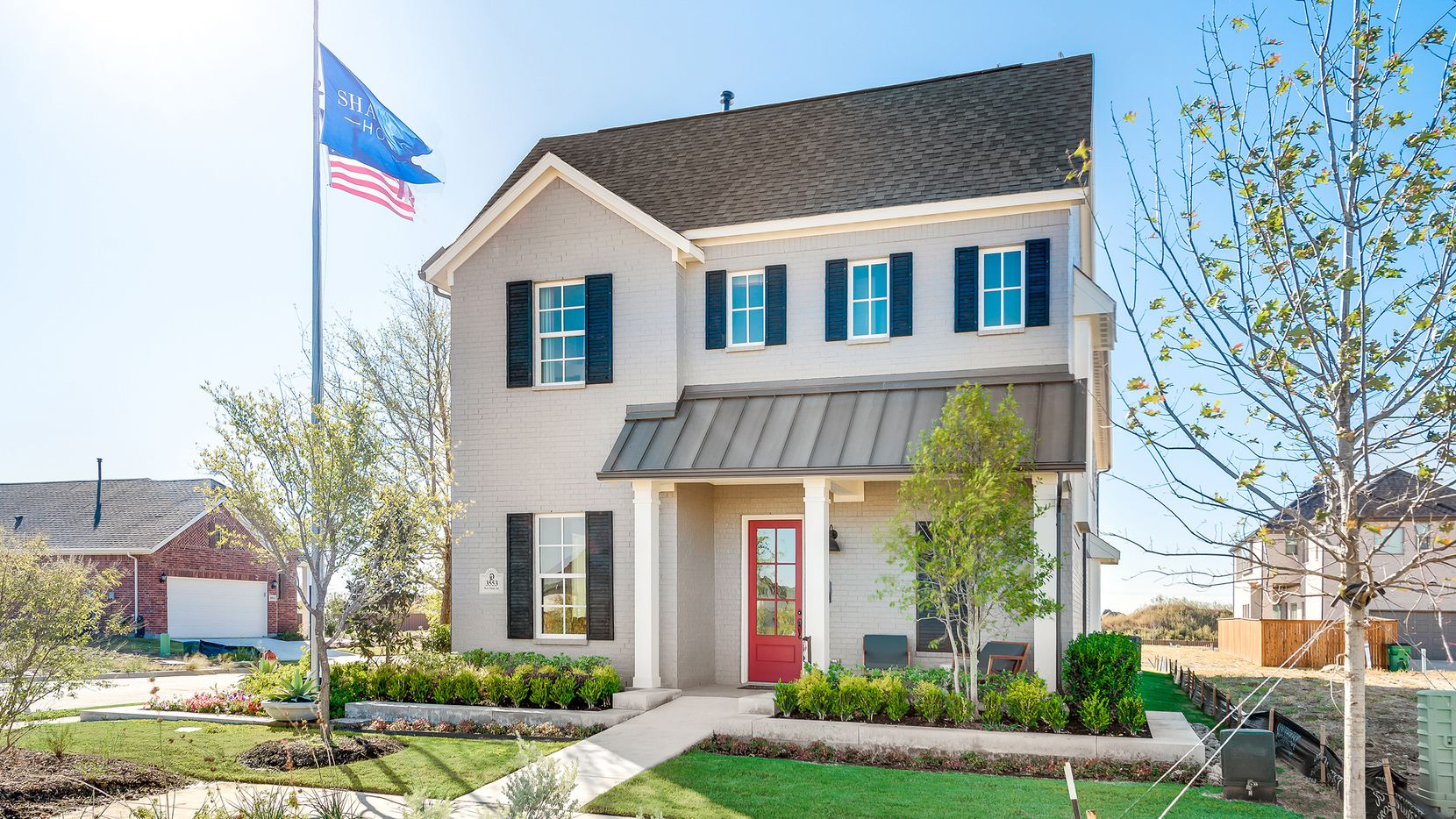 This modern farmhouse by Shaddock Homes is at 3553 West Cheney Ave. in Celina's Light Farms Brenham.