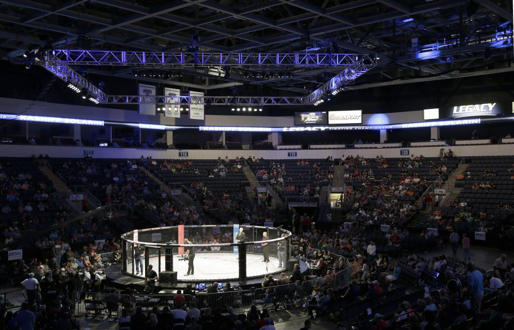 A file photo from 2014 shows the Legacy Fighting Championship at the Allen Event Center. (Brad Loper/The Dallas Morning News)