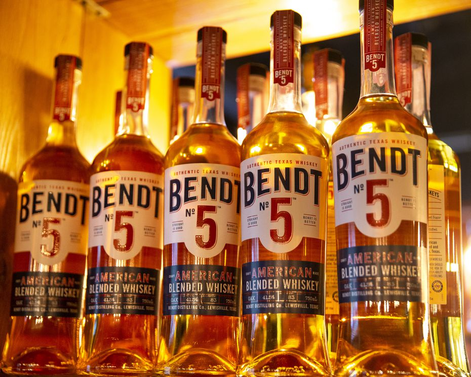 Bendt Distilling Co. in Lewisville produces Bendt No 5 American blended whiskey and Witherspoon Bourbon. (Lynda M. Gonzalez/Staff Photographer)