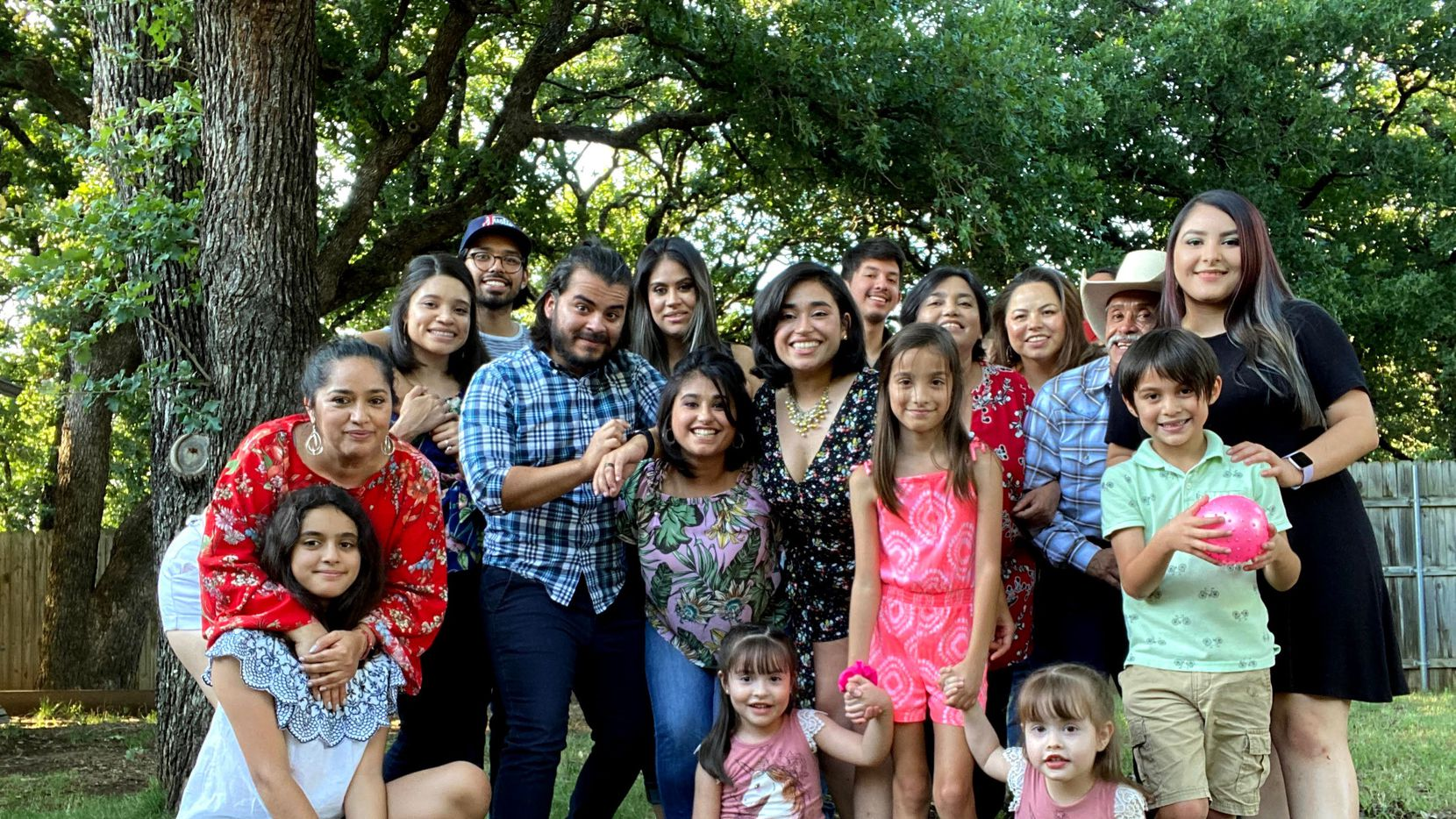 The Aragonez family poses for a photo. The family recently gathered to celebrate a birthday, and 15 relatives later tested positive for COVID-19.