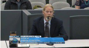 Steve Houser appeared before the City Council's Quality of Life Committee on Monday.
