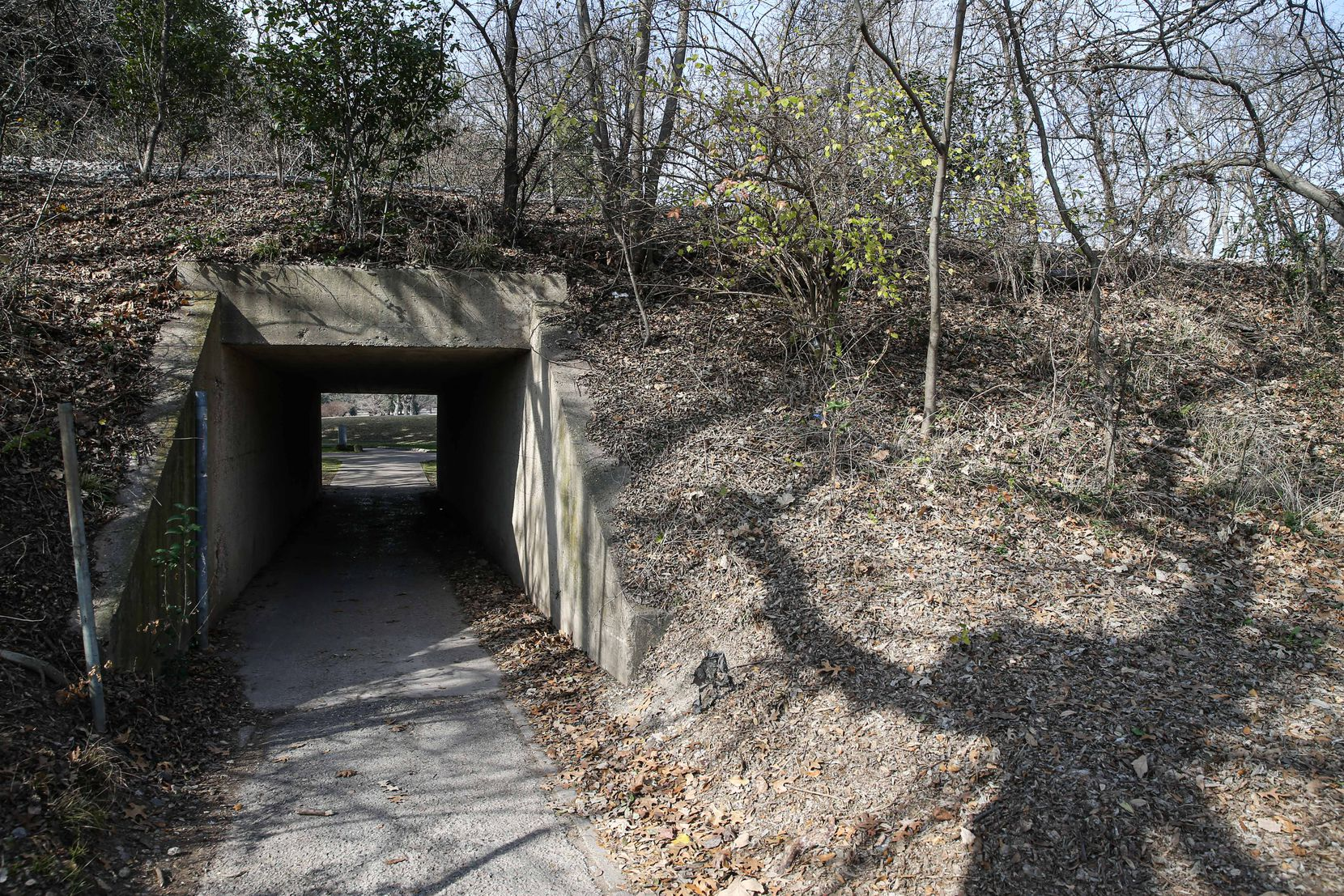 One of the two tunnels that currently provide golfers access to Samuell Grand Park's easternmost property, where the majority of the Tenison Glen Golf Course sits. One of the tunnels will need to be dedicated to nature preserve users and may require additional renovations.