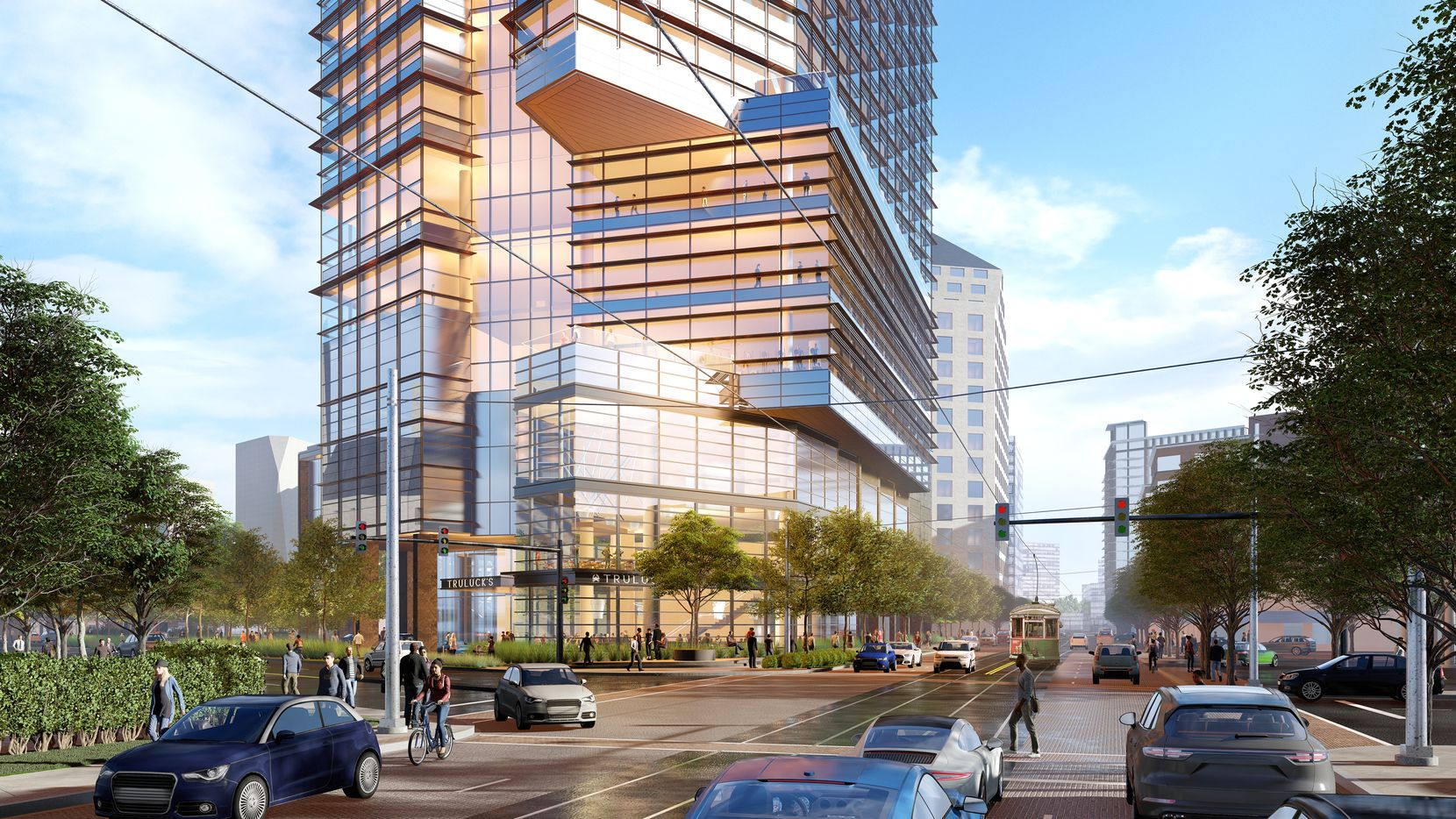Architects Pickard Chilton and HKS designed the 27-story tower for the block at McKInney and Maple avenues.