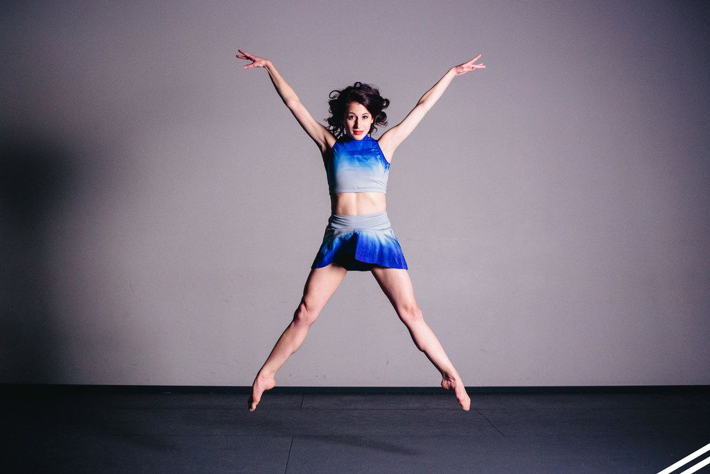 6 o'Clock Dance Theatre's Sophi Marass is part of the cast of artistic director Zach Law Ingram's Brush to Canvas at the Dallas Dances festival. (Photo by Ace Anderson)
