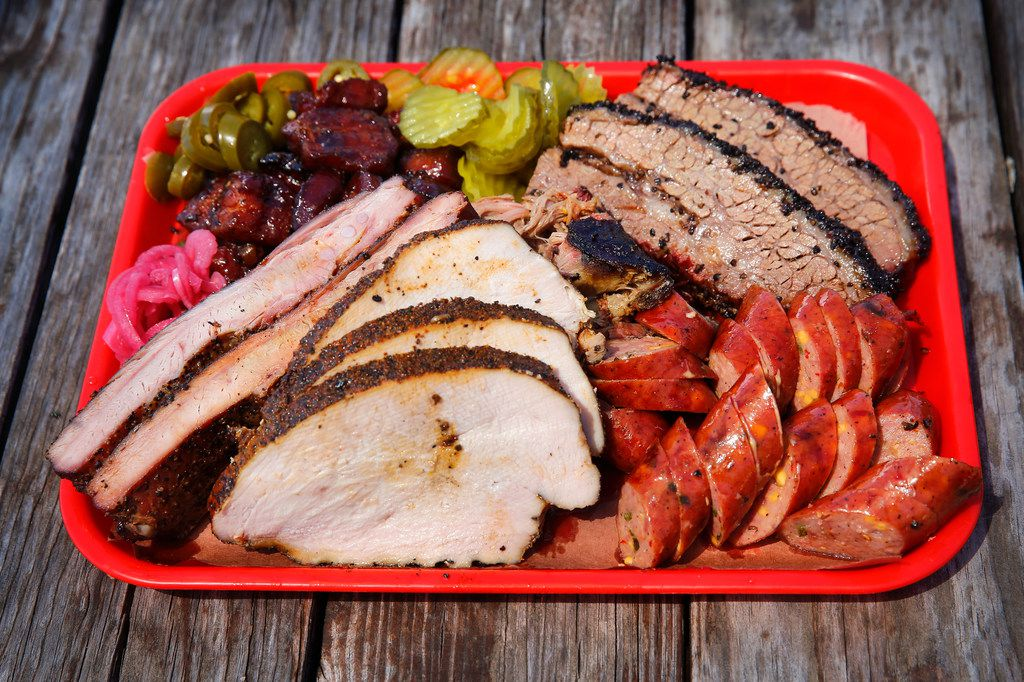 Panther City BBQ serves Hell's Half Acre, a tray full of brisket, pulled pork, sausage, pork ribs, smoked turkey and pork belly. Panther City BBQ and Smoke Sessions Barbecue were named two of the state's 25 best new barbecue joints.