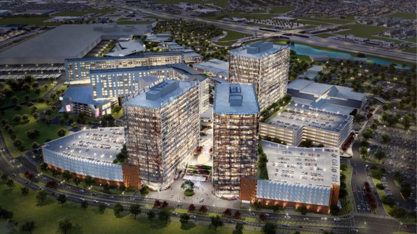 Cawley Partners is teaming up with Grandscape's developers to build more than 1.5 million square feet of offices in the project on S.H. 121 in the Colony.