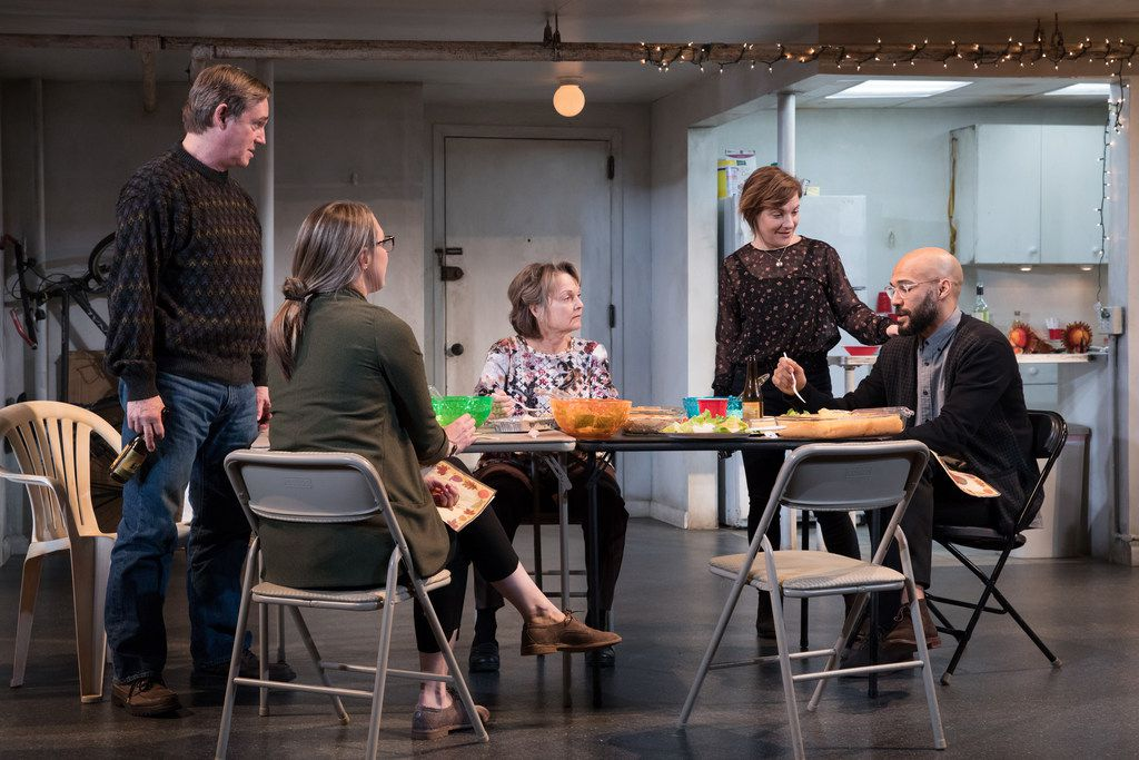 From left: Richard Thomas, Pamela Reed, Daisy Eagan, Luis Vega and Therese Plaehn star in the national tour of The Humans. AT&T Performing Arts Center presents the show at the Winspear Opera House in Dallas May 8-20, 2018.