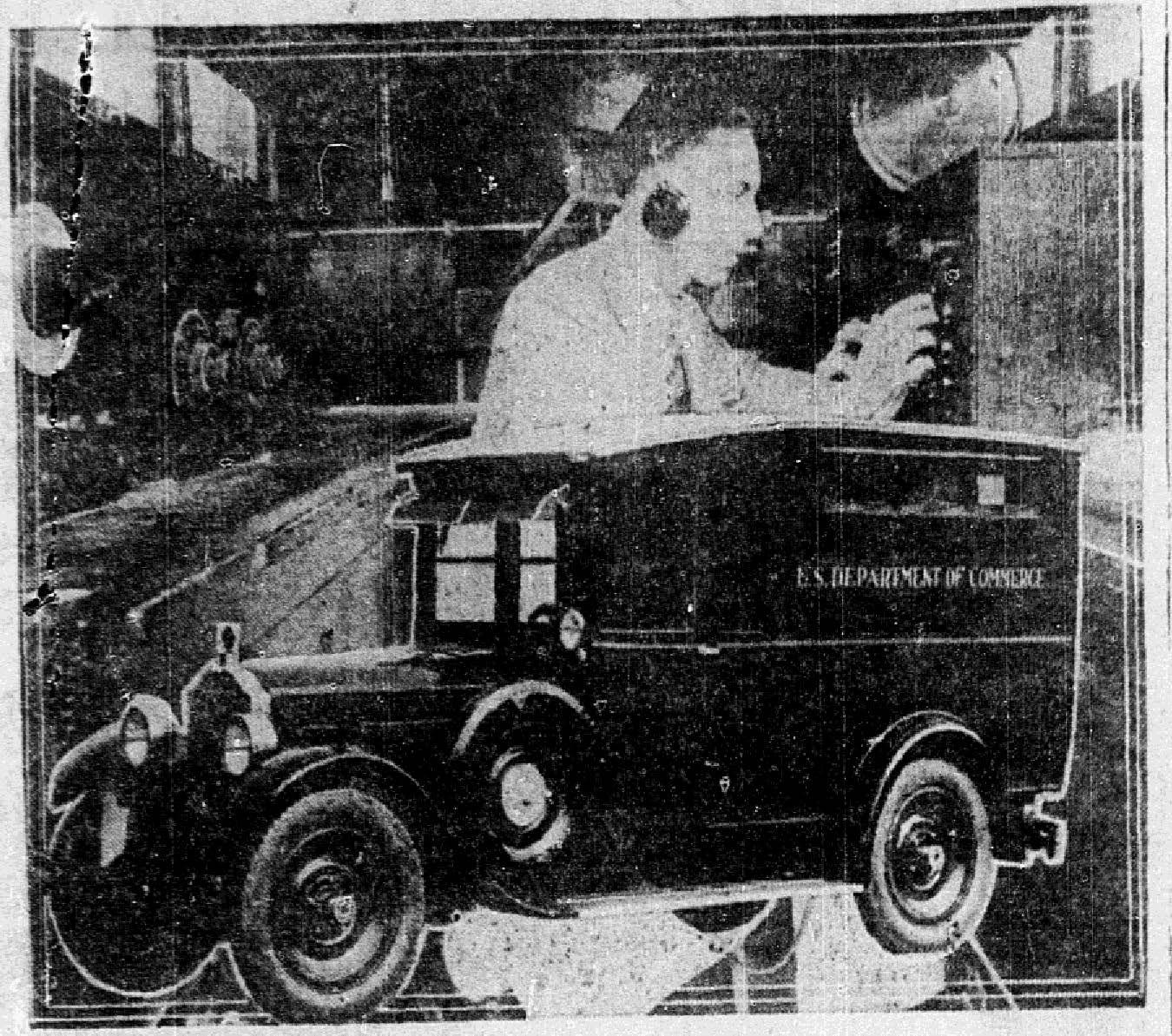 December 20, 1923. Radio detective has special Packard car.