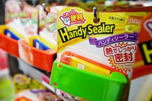 Chip bag heat sealers on sale at Daiso, a Japanese dollar store, in Carrollton. The store opened today.  (Brandon Wade/Special Contributor)