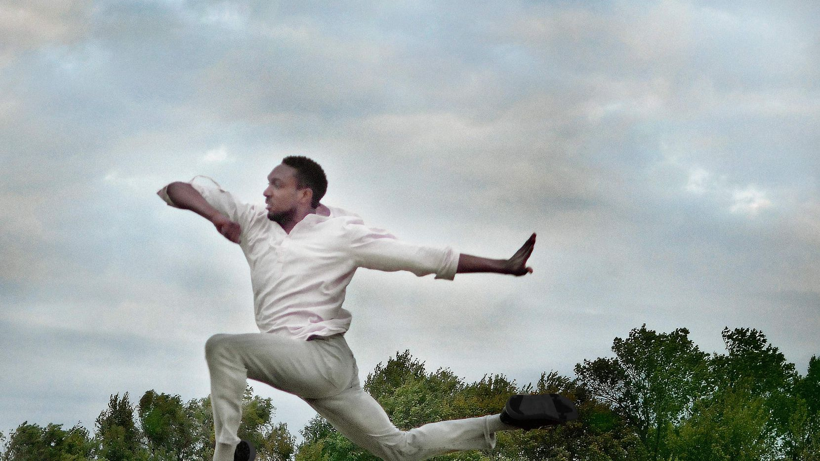 """Bruce Wood Dance company member Matthew Roberts in choreographer Adam W. McKinney's """"Promise Me You'll Sing My Song."""""""
