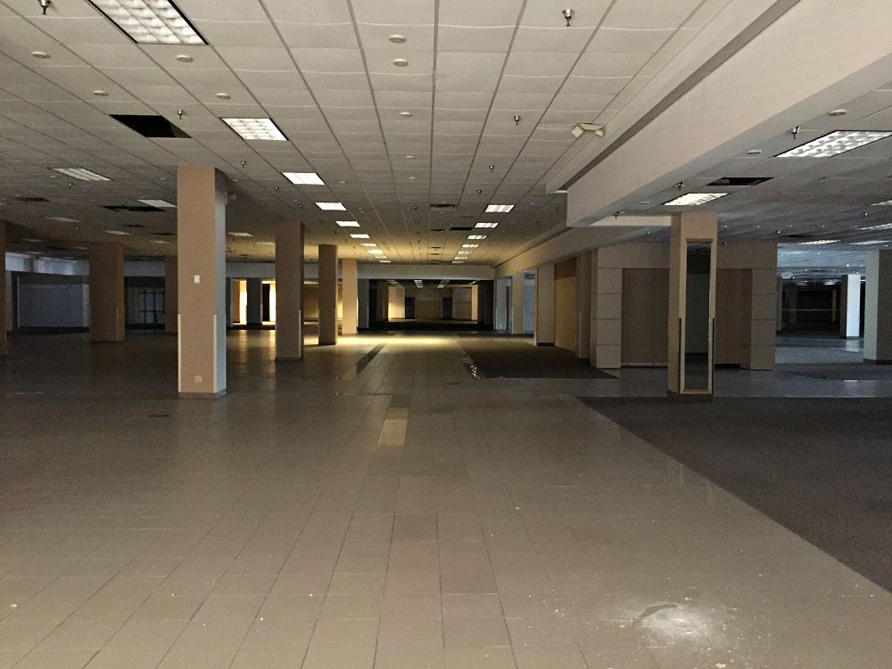 Inside the late Sears at Valley View, scheduled to become a 25-acre mixed-use development