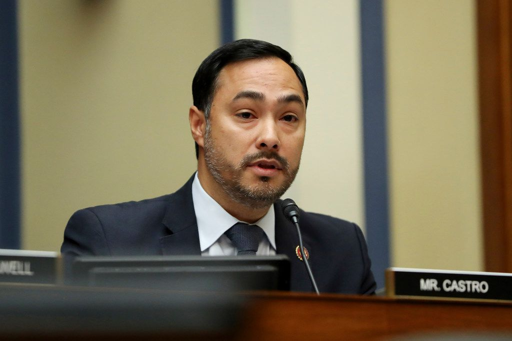 Rep. Joaquin Castro, D-San Antonio, seen here before the COVID-19 pandemic, has launched an investigation into Secretary of State Mike Pompeo's decision to speak to the Republican National Convention. (AP Photo/Andrew Harnik)