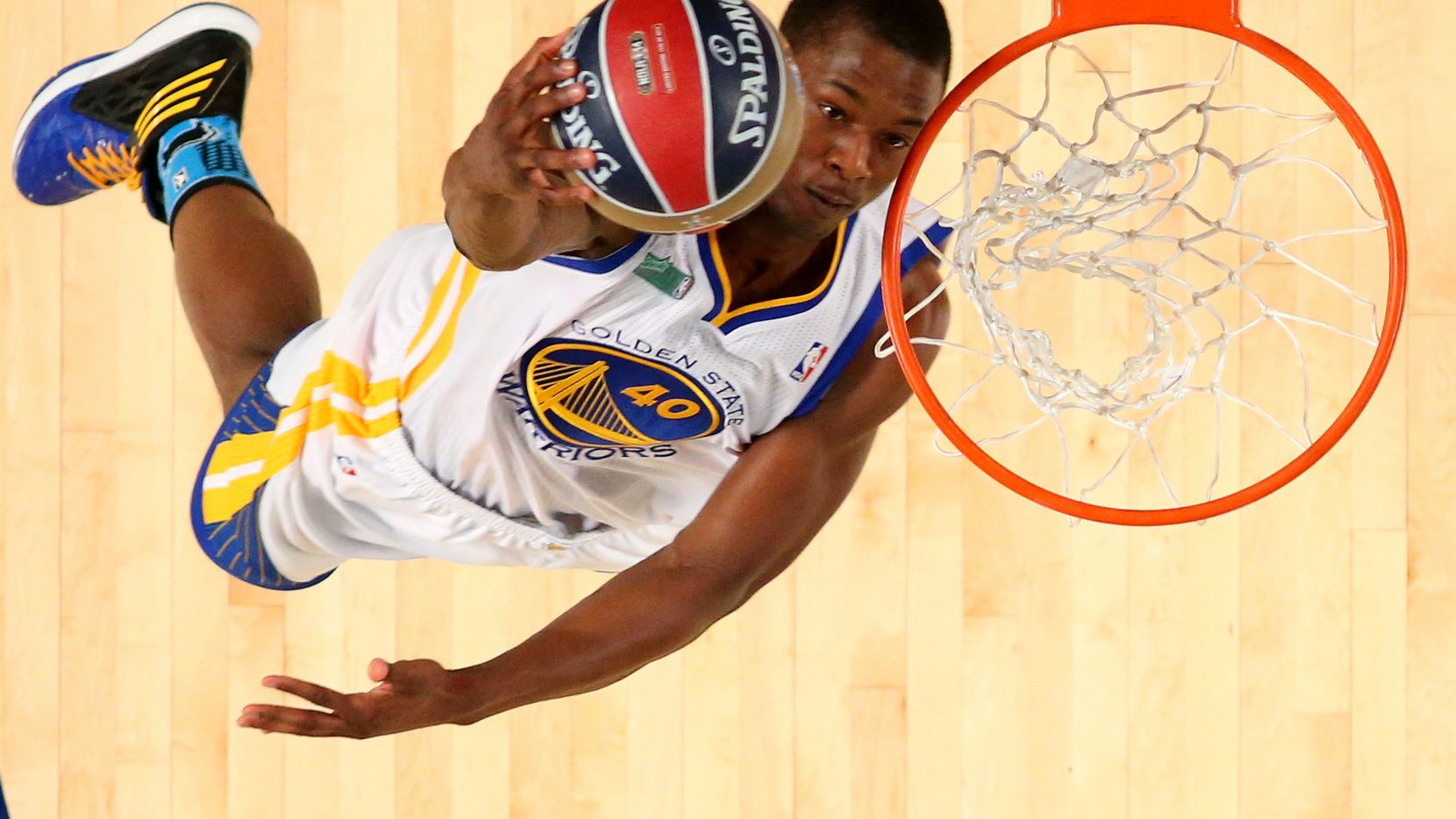 NEW ORLEANS, LA - FEBRUARY 15:  Western Conference All-Star Harrison Barnes #40 of the Golden State Warriors dunks during the Sprite Slam Dunk Contest 2014 as part of the 2014 NBA All-Star Weekend at the Smoothie King Center on February 15, 2014 in New Orleans, Louisiana. NOTE TO USER: User expressly acknowledges and agrees that, by downloading and or using this photograph, User is consenting to the terms and conditions of the Getty Images License Agreement.  (Photo by Ronald Martinez/Getty Images)