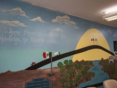 A mural painted by students adorns a wall at The Lydia Patterson Institute. The institute opened in 1913 as a beacon for poor   Mexican boys and girls. In divisive times, it remains a symbol of peace.