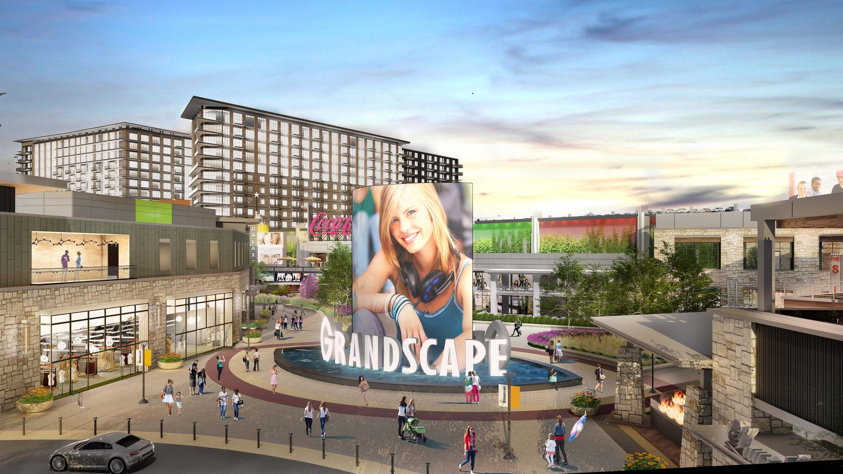 The GrandScape mixed-use project is in The Colony.