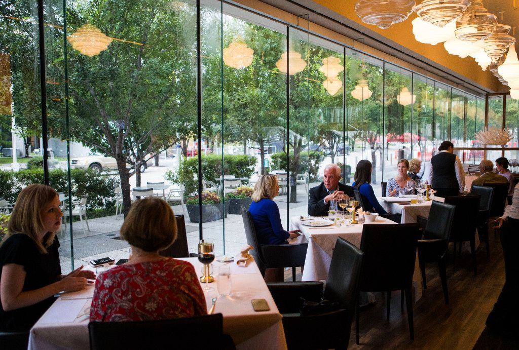 Stephan Pyles Flora Street Cafe is located in the Dallas Arts District.