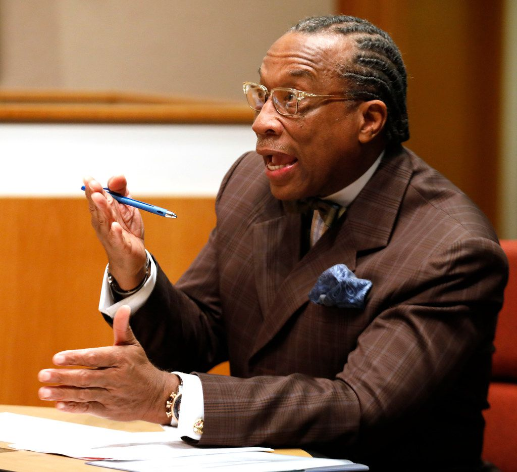 Dallas County Commissioner John Wiley Price and interim Dallas County Sheriff Marian Brown took part in a meeting to discuss ways to take better care of women in Dallas County Jail at the Dallas County Commissioners Court on Tuesday, Jan. 9.