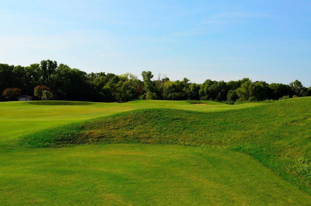 The third hole at Irving Golf Club is a 346-yard par 4. The golf course, which underwent a $3.5 million renovation, will have a links-like feel, according to architect John Colligan. The course, formerly known at Twin Wells Golf Course, is set to open Saturday, Aug. 31, 2019.  It had been closed since 2016.