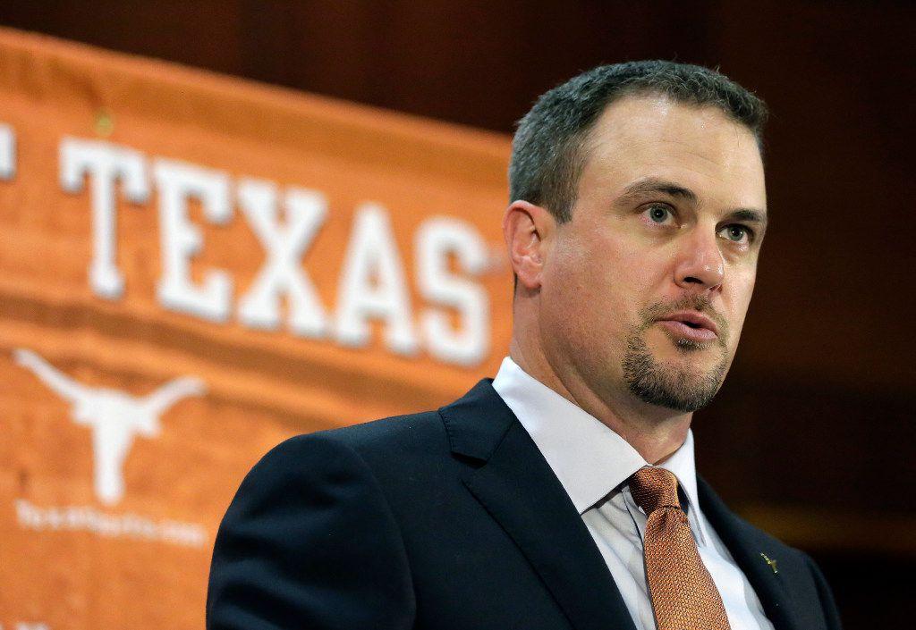 New Texas football coach Tom Herman . (AP Photo/Eric Gay, File)