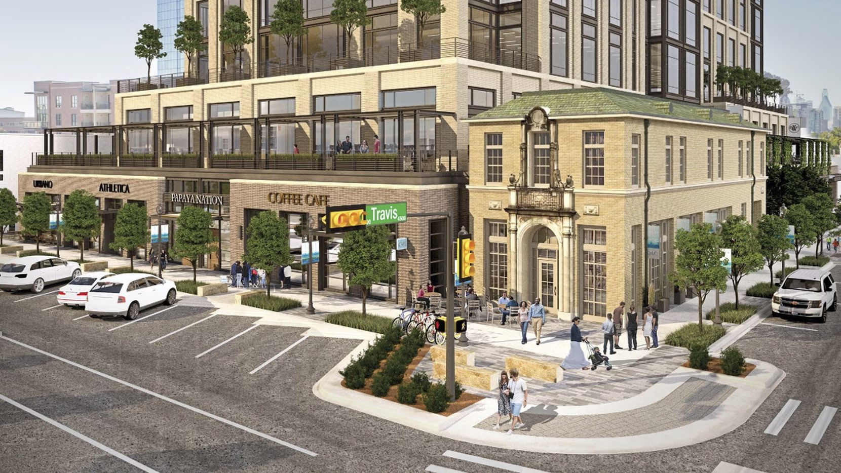 The new retail and office high-rise will replace the Weir's Furniture store on Knox Street.