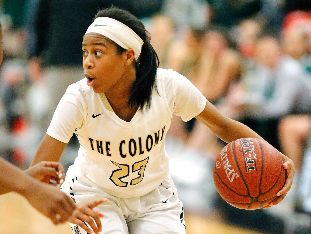 Jewel Spear averaged 25.2 points as a senior at The Colony in the 2019-2020 season. (Stewart F. House/Special Contributor)