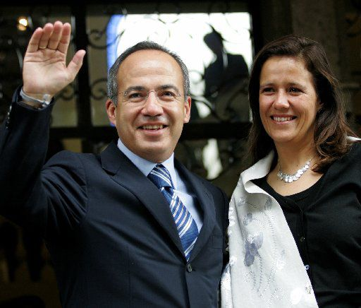 Felipe Calderon appeared his wife, Margarita Zavala, in 2006. Now she is a candidate for president.