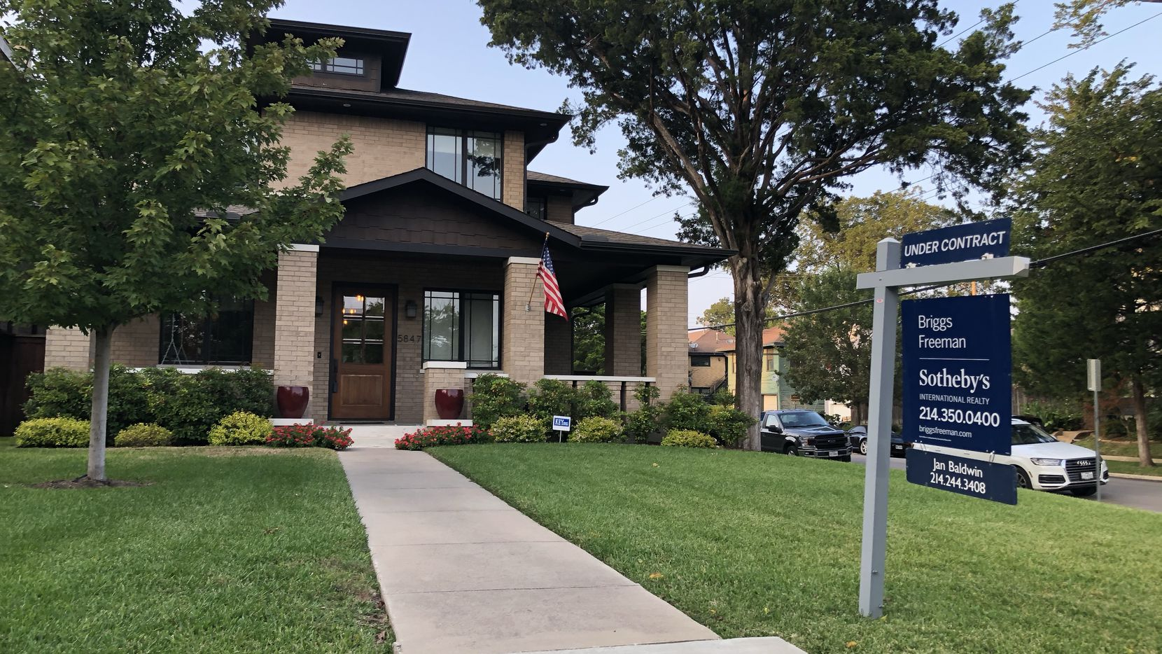 Dallas-area home prices were up 3.2% in July from a year ago, the highest such gain in more than a year in the Case-Shiller index.
