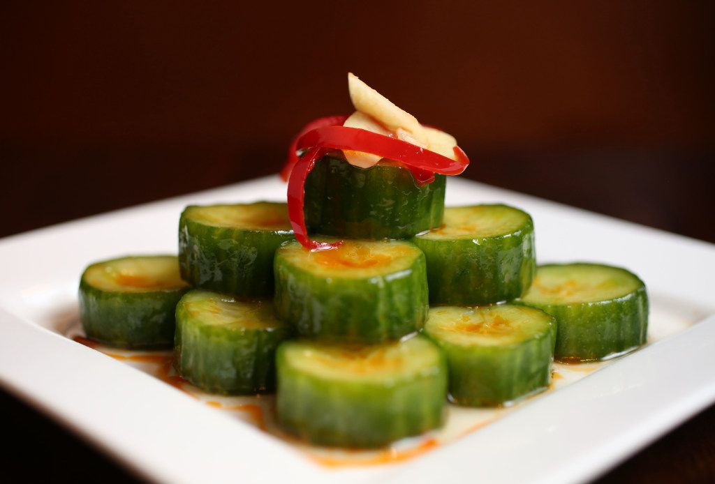 Cucumber salad at Wu Wei Din Chinese Cuisine  (Rose Baca/Staff Photographer)