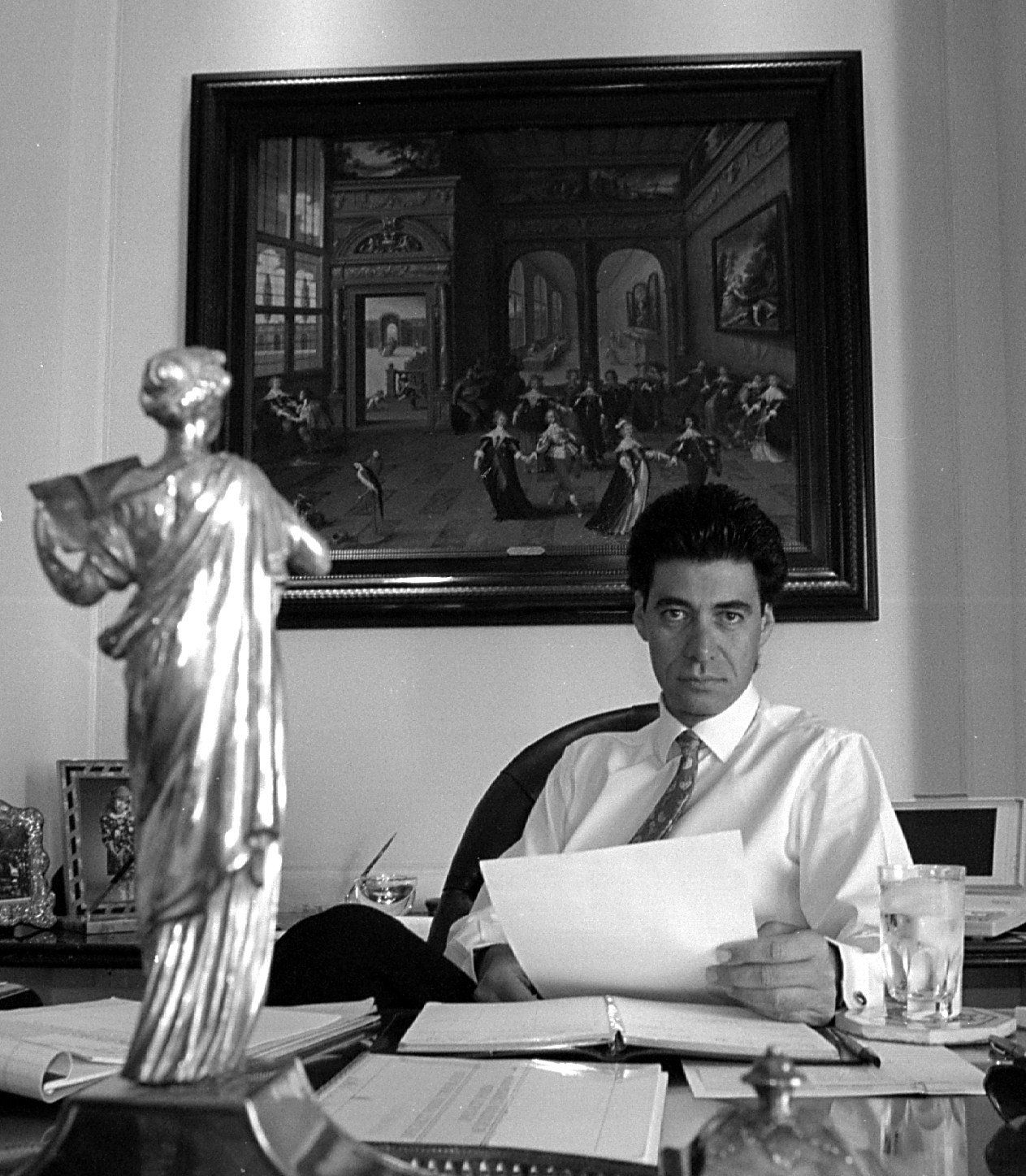 Bobby Haas is shown in his office at the Crescent in 1993.
