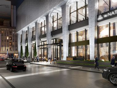 The National at 1401 Elm Street includes the Thompson Hotel, apartments, retail and office space.
