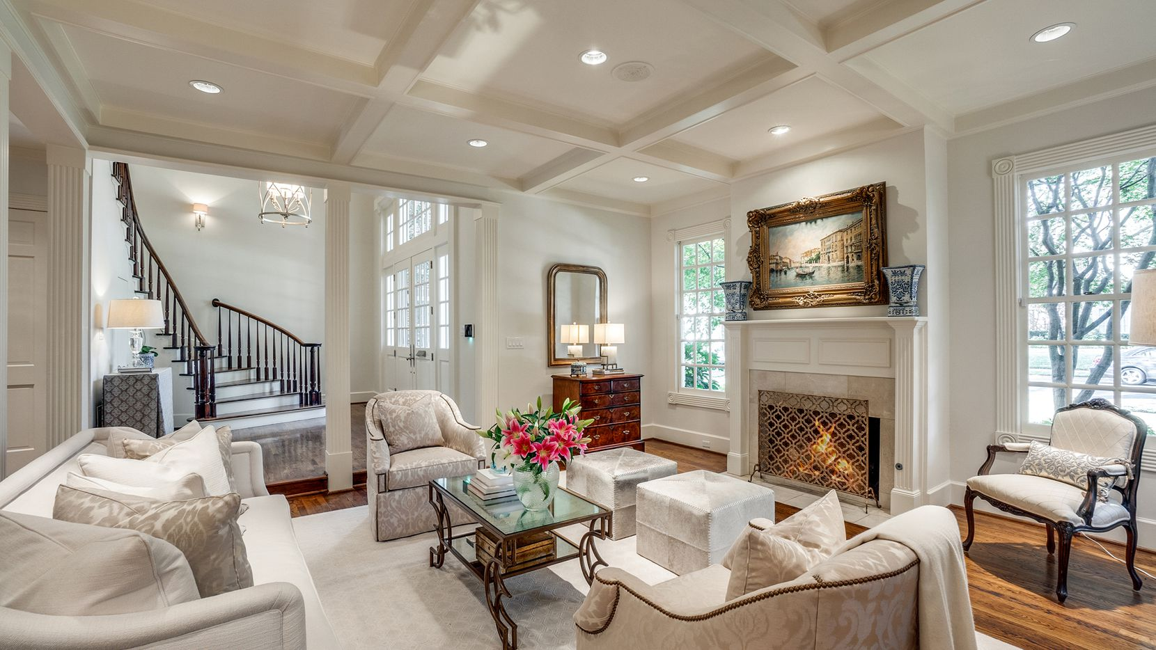 The home at 3115 Stanford Ave. in University Park is designed for entertaining, with open formal rooms and living spaces.