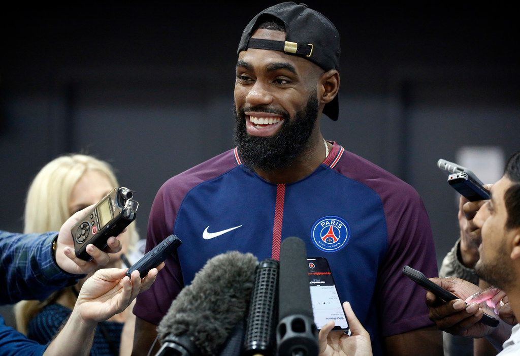 Dallas Mavericks guard Tim Hardaway Jr. visits with the media a day after the teams last game of the season. The interview took place at the American Airlines Center in Dallas, Thursday, April 11, 2019. (Tom Fox/The Dallas Morning News)