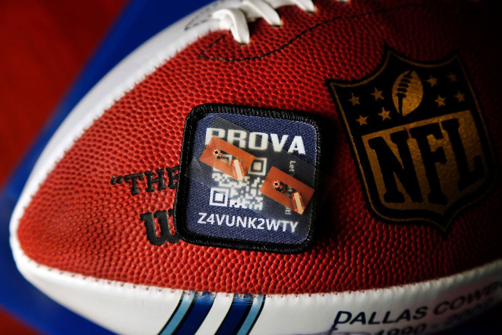The Prova Group's near-field communication chips can be sewn into a jersey or a football.