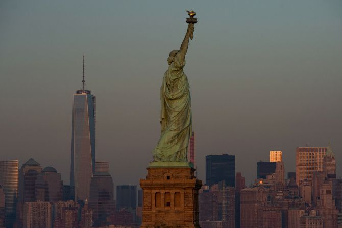 The Statue of Liberty arrived in New York Harbor on June 19, 1885.