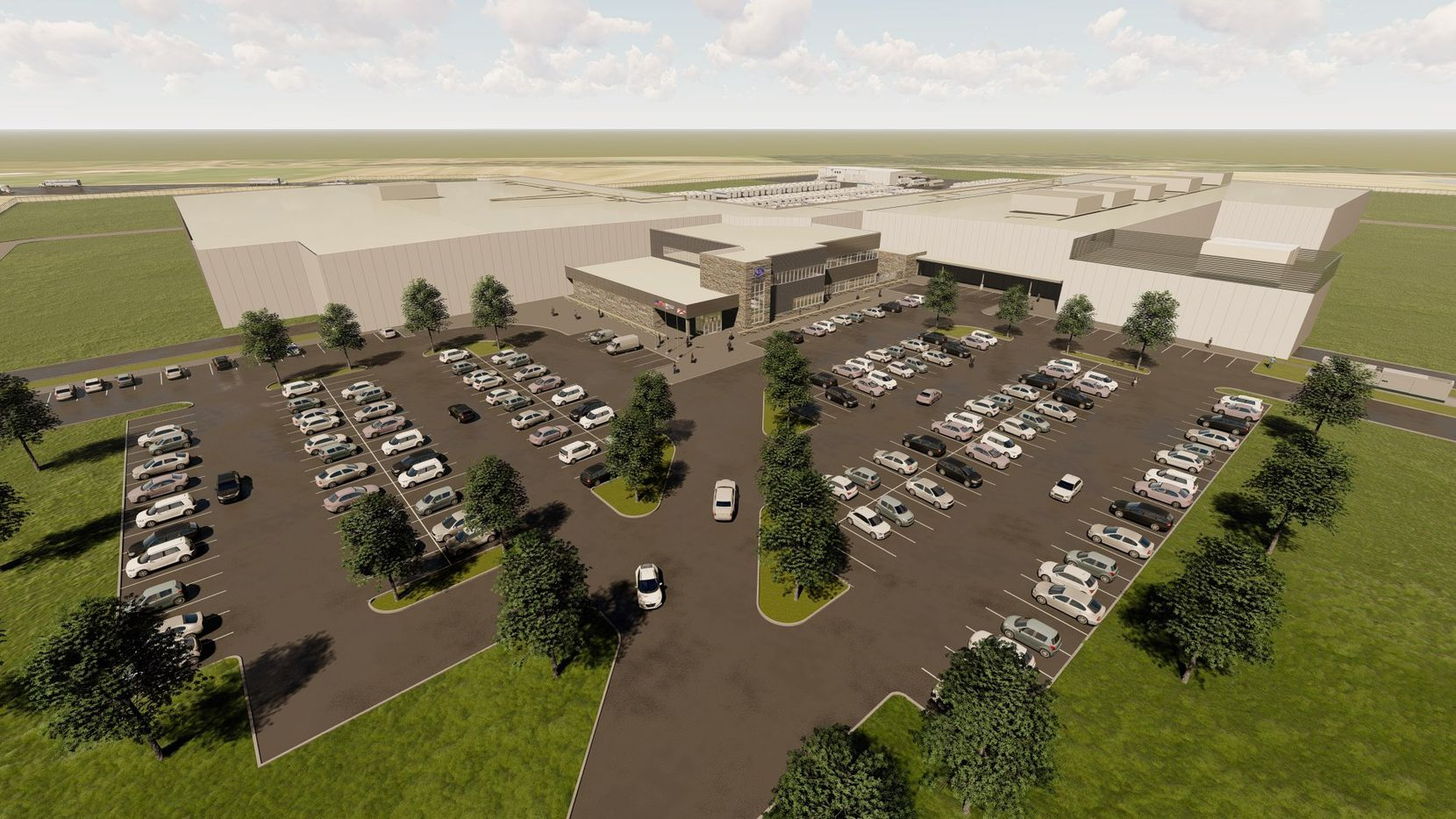 Rendering of new Ben E. Keith Foods Southeast Distribution Center.