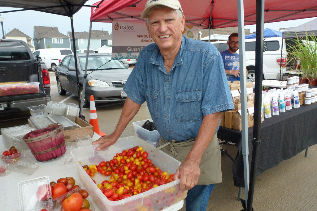 Gardener Mike Powell has been bringing his harvest to Coppell for years, including heirloom baby tomatoes.