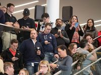 Apple employees attended an event about Apple's new campus announcement in Austin in December 2018.