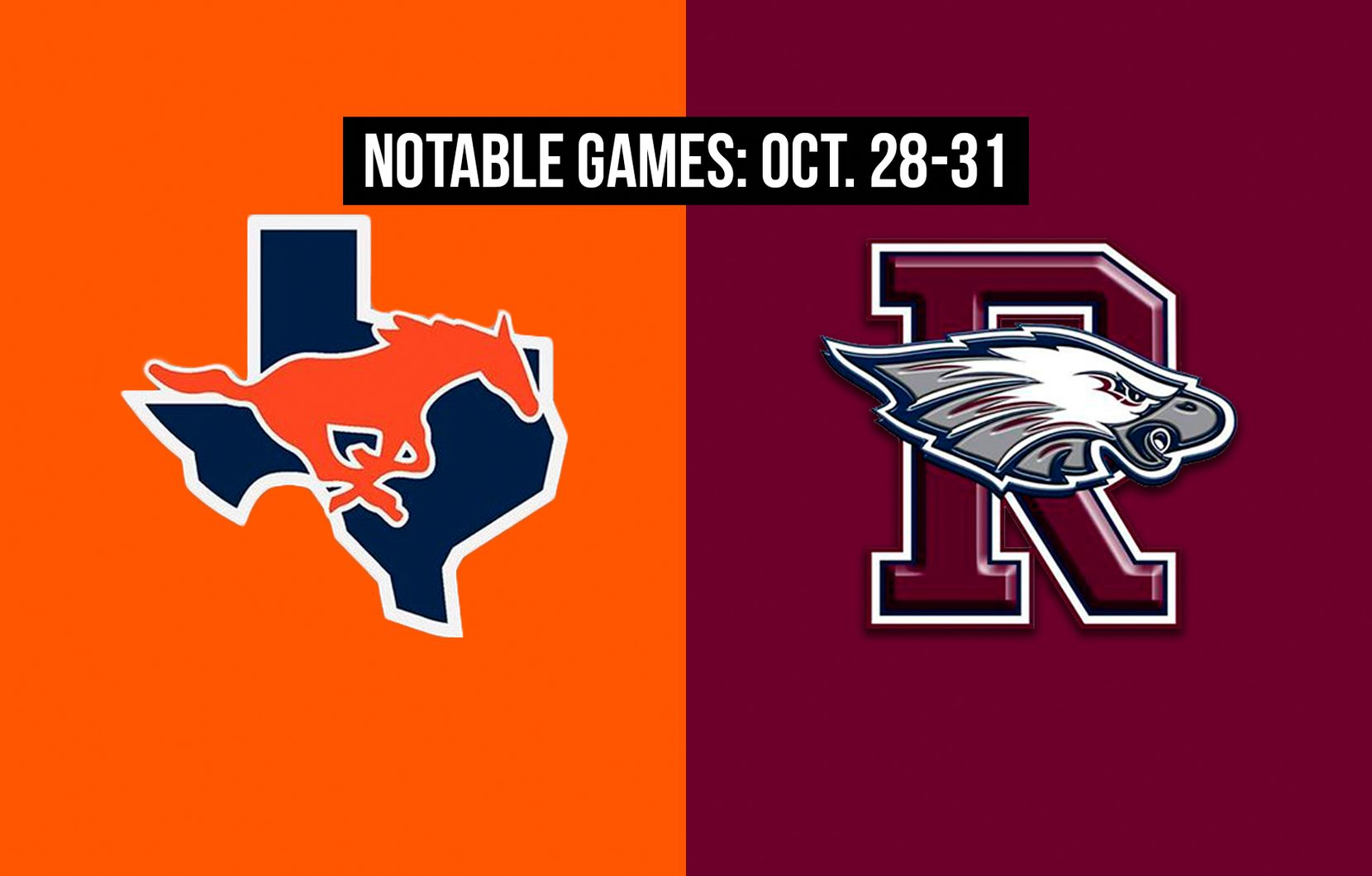 Notable games for the week of Oct. 28-31 of the 2020 season: Sachse vs. Rowlett.