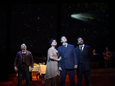"""The Fort Worth Opera performs during a dress rehearsal of """"El Pasada Nunca De Termina"""" at the Bass Performance Hall in Fort Worth on May 9, 2019."""