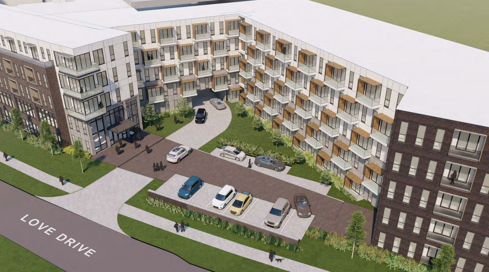 The planned apartment community would contain 385 units.