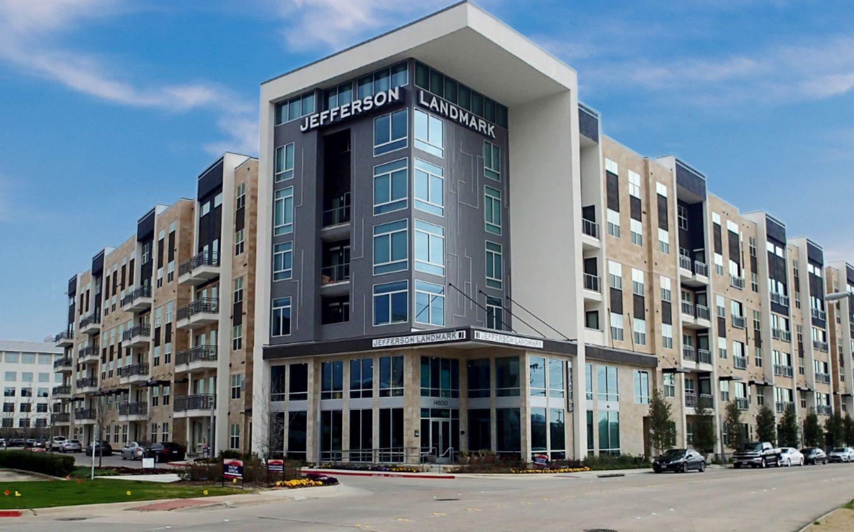 The Jefferson Landmark apartments are in Farmers Branch, north of the Dallas Galleria.