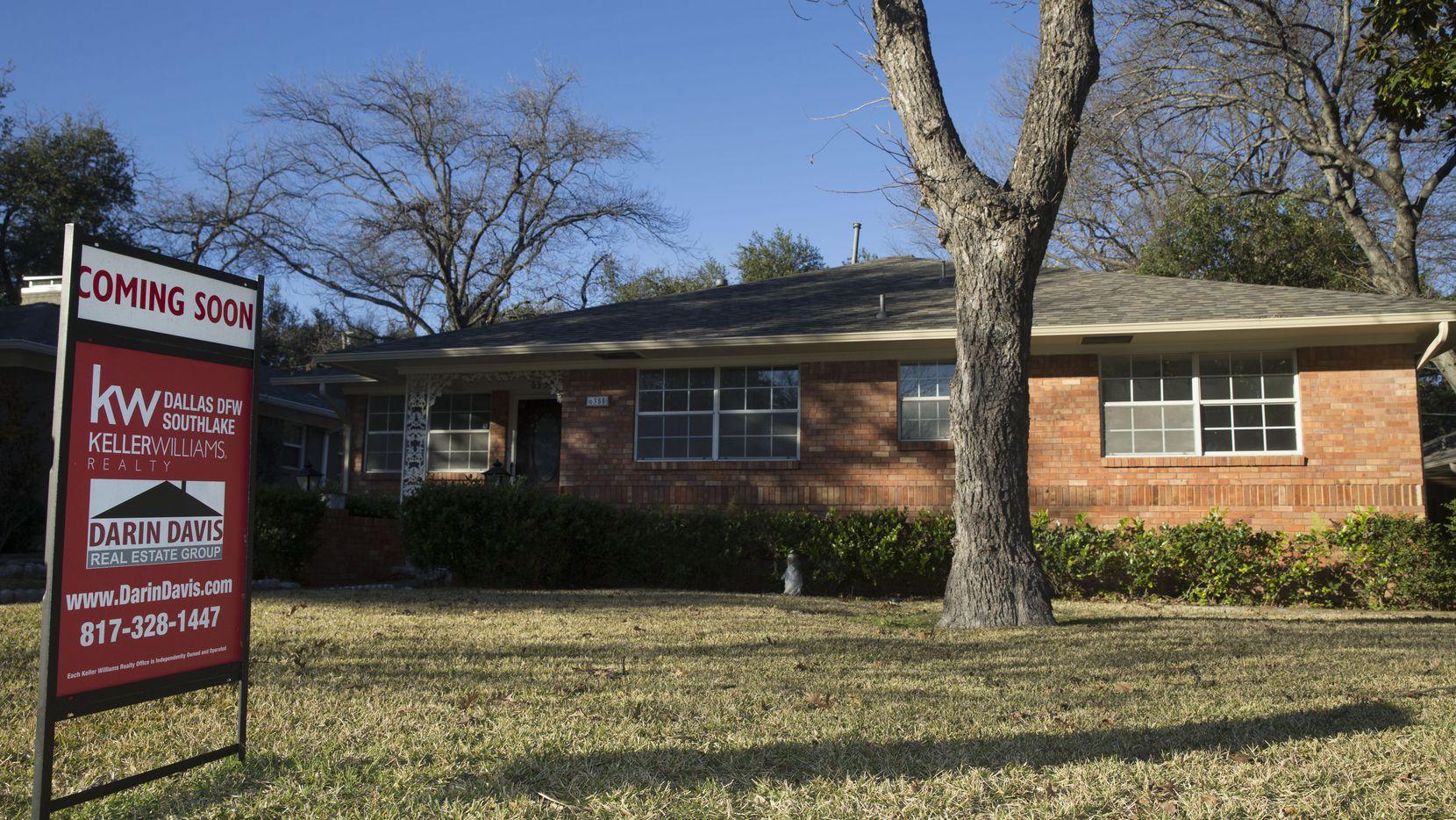 Los precios de las casas en el Norte de Texas subieron un 21% con respecto al año anterior.