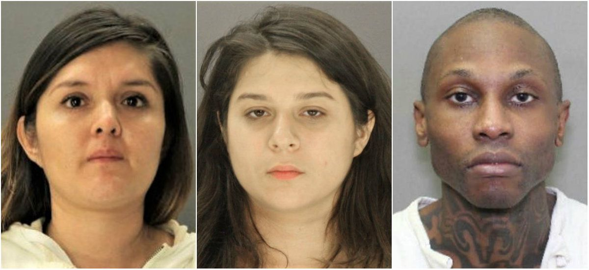 From left: Brenda Delgado hired Crystal Cortes and Kristopher Love to kill Kendra Hatcher, who was in a relationship with Delgado's ex-boyfriend.